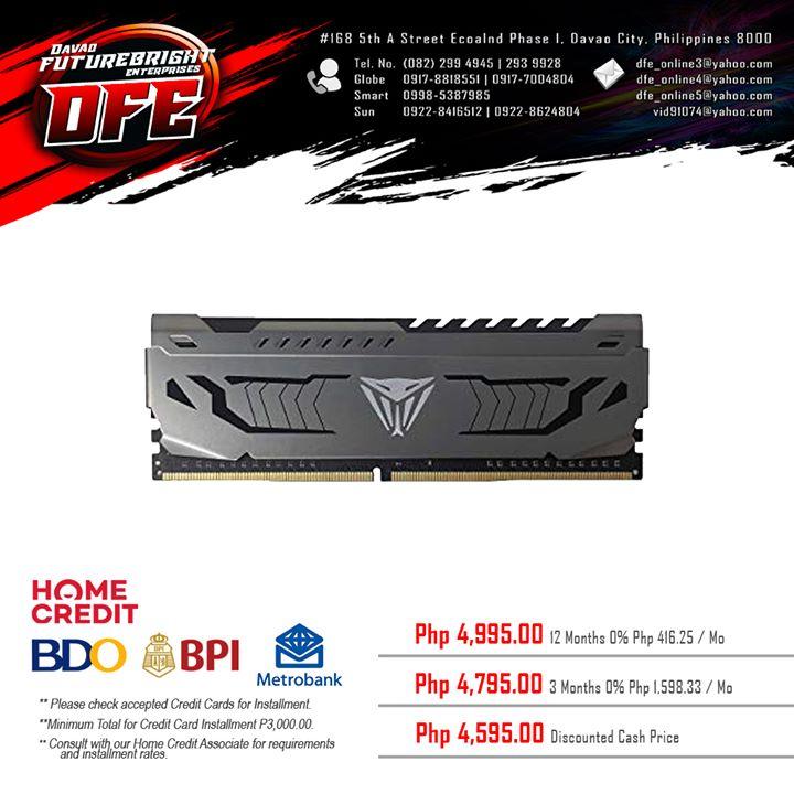 16GB(1x16GB) PATRIOT VIPER STEEL DDR4 3200 CL16 – DESKTOP